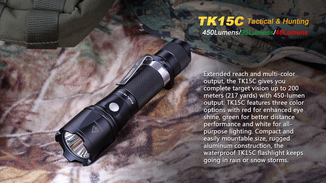 Fenix TK15C Multi-ColoredLED Flashlight – 5H Outdoors and ...