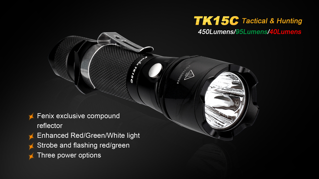 Fenix TK15C Multi ColoredLED Flashlight